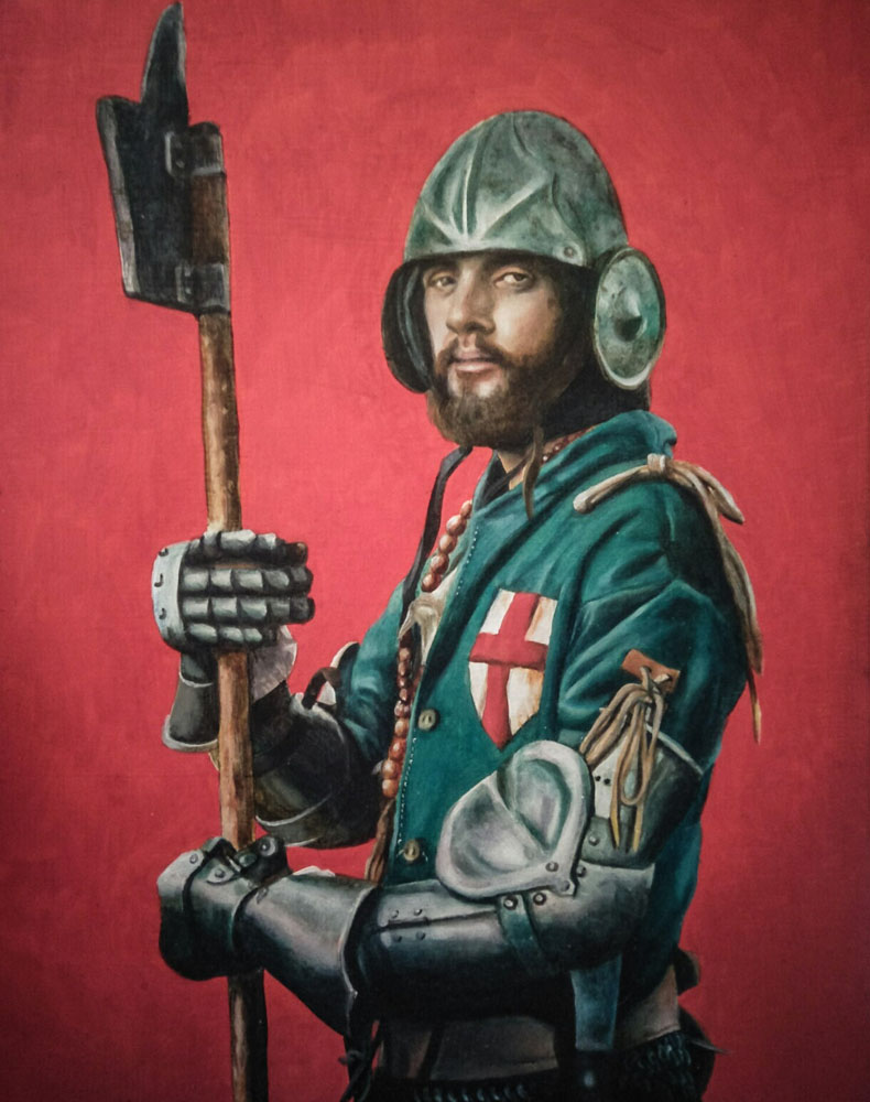 Portrait of TR in Armour, 2019