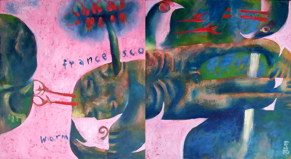 Saint Francis Rescuing a Worm, 2008